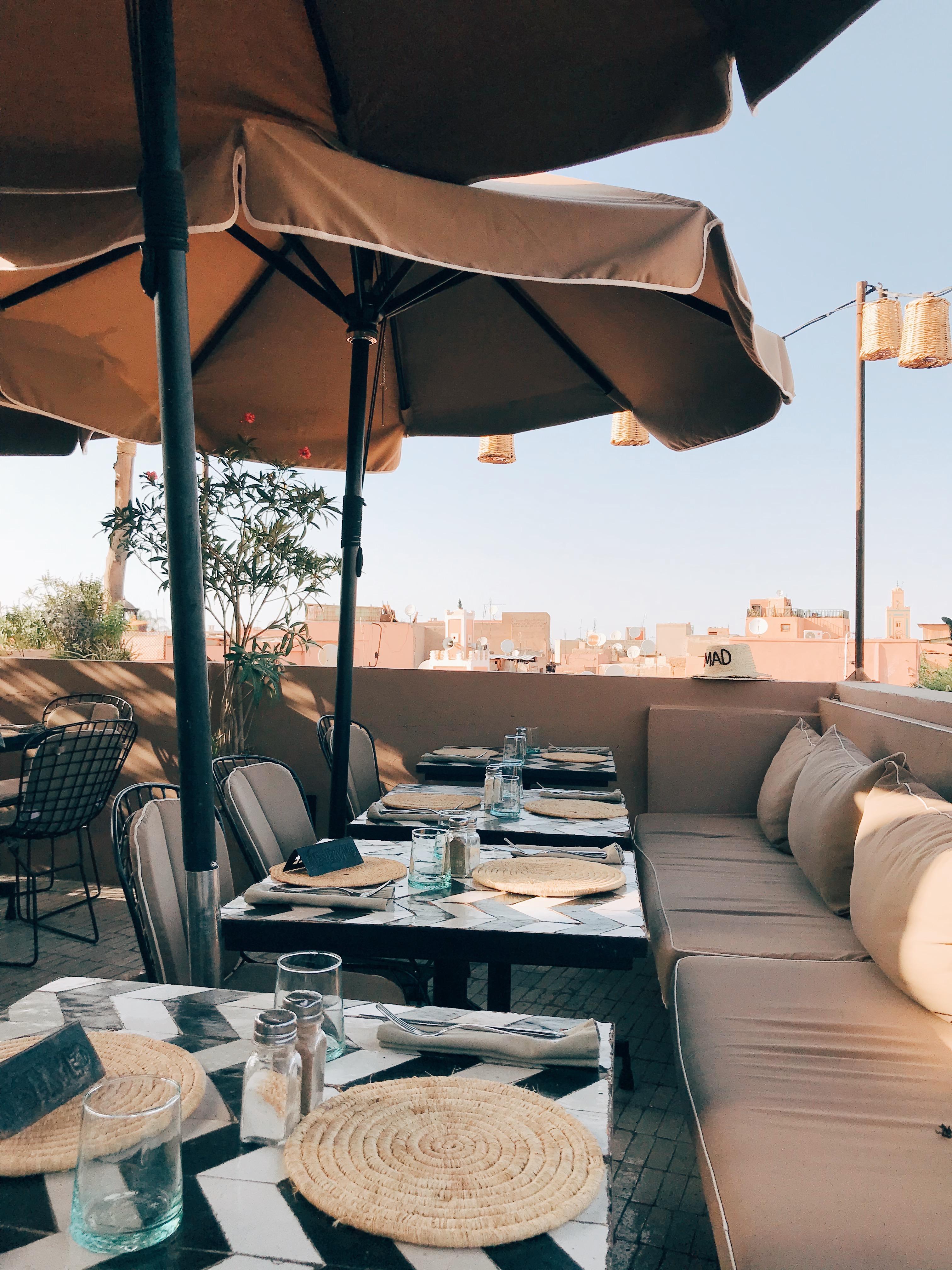 Dachterrasse im NOMAD in Marrakesch
